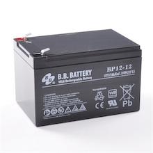 12V 12Ah batterie au plomb (AGM), B.B. Battery BP12-12, VdS, 151x98x94 mm (Lxlxh), Borne T2 Faston 250 (6,3 mm)