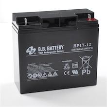 12V 17Ah Batterie au plomb (AGM), B.B. Battery BP17-12, VdS, 181x76x166 mm (Lxlxh), Borne B1 (Vis écrou M5)