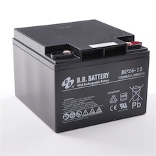 12V 26Ah Batterie au plomb (AGM), B.B. Battery BP26-12, VdS, 175x166x123 mm (Lxlxh), Borne I1 (Insert M5)