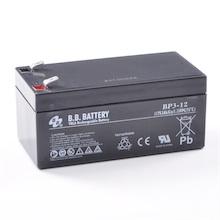 12V 3Ah batterie au plomb (AGM), B.B. Battery BP3-12, 134x67x60 mm (Lxlxh), Borne T2 Faston 250 (6,3 mm)