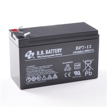 12V 7Ah batterie au plomb (AGM), B.B. Battery BP7-12, VdS, 151x65x93 mm (Lxlxh), Borne T2 Faston 250 (6,3 mm)