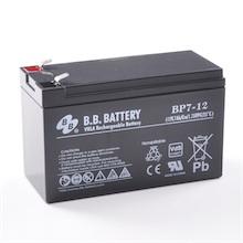 12V 7Ah Batterie au plomb (AGM), B.B. Battery BP7-12, VdS, 151x65x93 mm (Lxlxh), Borne T2 Faston 250 (6,3 mm)