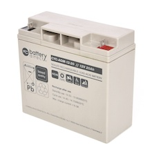 12V 20Ah batterie cyclique au plomb, battery-direct CYC-AGM-12-20, 181x76x166 mm (Lxlxh), Borne B1 (Vis écrou M5)