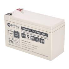 12V 7.2Ah batterie cyclique au plomb, battery-direct CYC-AGM-12-7.2, 151x65x93 mm (Lxlxh), Borne T2 Faston 250 (6,3mm)