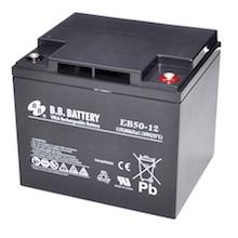 12V 50Ah batterie au plomb (AGM), B.B. Battery EB50-12, 197x165x171 mm (Lxlxh), Borne I2 (Insert M6)