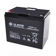 12V 80Ah batterie au plomb (AGM), B.B. Battery EB80-12, 260x168x209 mm (Lxlxh), Borne I2 (Insert M6)