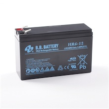12V 6Ah Batterie au plomb (AGM), B.B. Battery HR6-12, 151x51x94 mm (Lxlxh), Borne T2 Faston 250 (6,3 mm)