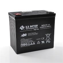 12V 55Ah batterie au plomb (AGM), B.B. Battery MPL55-12, 228x139x200 mm (Lxlxh), Borne I2 (Insert M6)