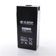 2V 200Ah batterie au plomb (AGM), B.B. Battery MSB-200, 173x111x357 mm (Lxlxh), Borne B6 (Vis écrou M8)