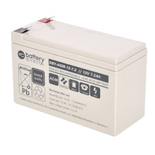 12V 7.2Ah batterie Stand-by au plomb, battery-direct SBY-AGM-12-7.2, 151x65x94 mm (Lxlxh), Borne T2 Faston 250 (6,3 mm)
