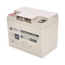 12V 40Ah Batterie au plomb, battery-direct SBYHL-AGM-12-40, 195x129x168 mm (Lxlxh), Borne I2 (Insert M6)