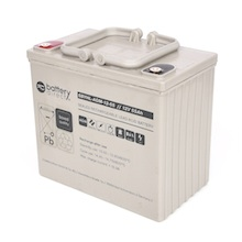 12V 55Ah batterie au plomb, battery-direct SBYHL-AGM-12-55, 228x139x200 mm (Lxlxh), Borne I2 (Insert M6)