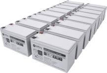Batteries pour Eaton - Powerware 9130 3000VA, (Batterie externe), Tour