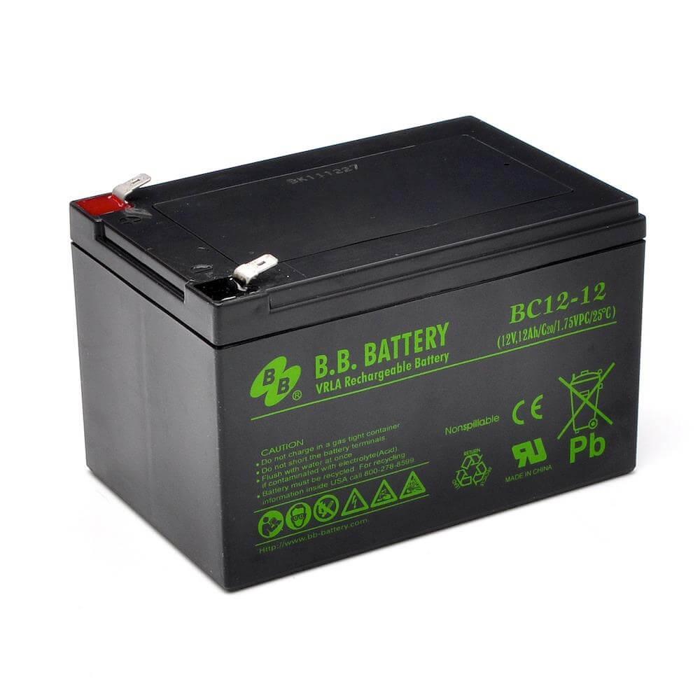 12v 12ah batterie au plomb agm b b battery bc12 12. Black Bedroom Furniture Sets. Home Design Ideas