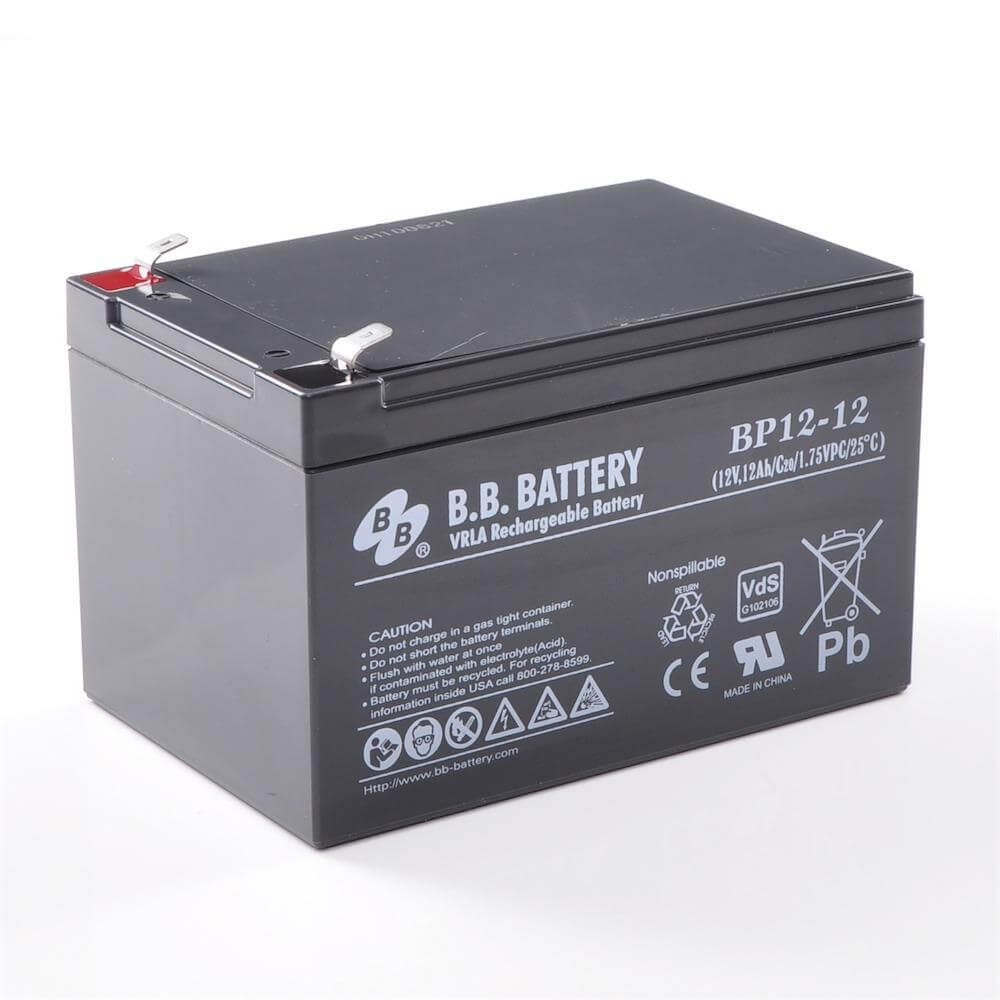 12v 12ah batterie au plomb agm b b battery bp12 12 vds 151x98x94 mm lxlxh borne t2. Black Bedroom Furniture Sets. Home Design Ideas