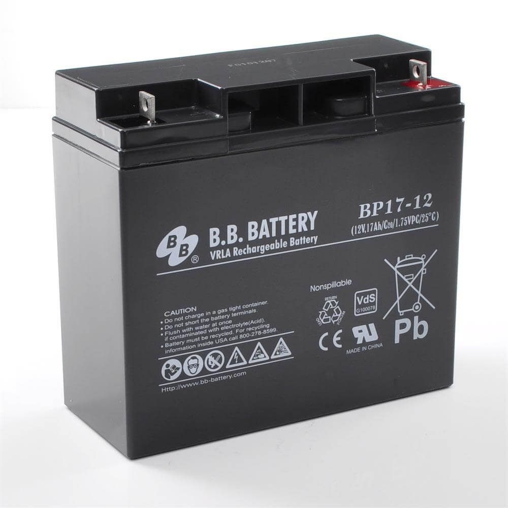 12v 17ah batterie au plomb agm b b battery bp17 12 vds 181x76x166 mm lxlxh borne b1. Black Bedroom Furniture Sets. Home Design Ideas
