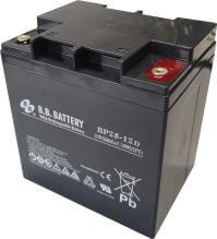 12V 28Ah batterie au plomb (AGM), B.B. Battery BP28-12D, 165x125x175 mm (Lxlxh), Borne TP (Goujon fileté M5)
