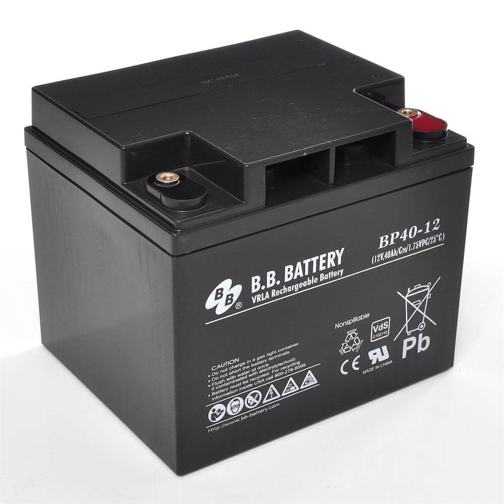 12v 40ah batterie au plomb agm b b battery bp40 12 vds 197x165x171 mm lxlxh borne i2. Black Bedroom Furniture Sets. Home Design Ideas