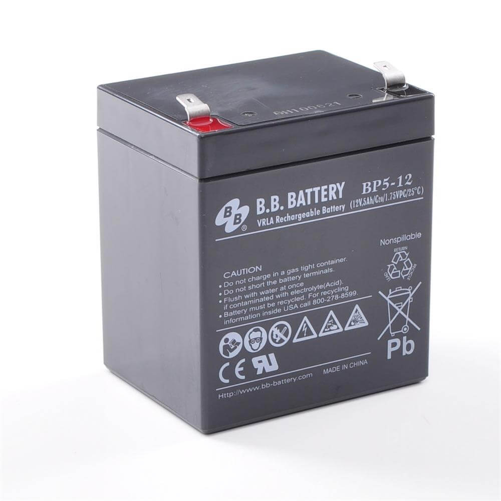 12v 5ah batterie au plomb agm b b battery bp5 12 90x70x102 mm