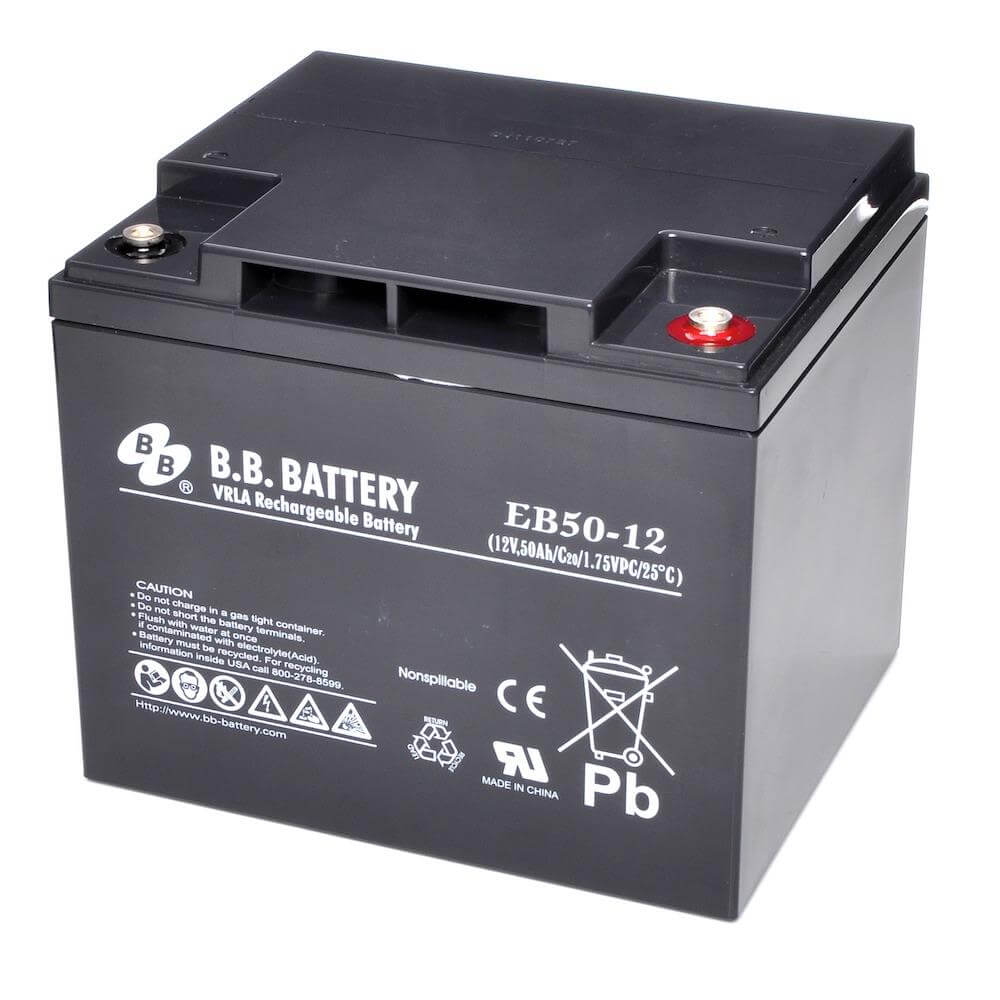 12v 50ah batterie au plomb agm b b battery eb50 12 197x165x171 mm lxlxh borne i2 insert m6. Black Bedroom Furniture Sets. Home Design Ideas