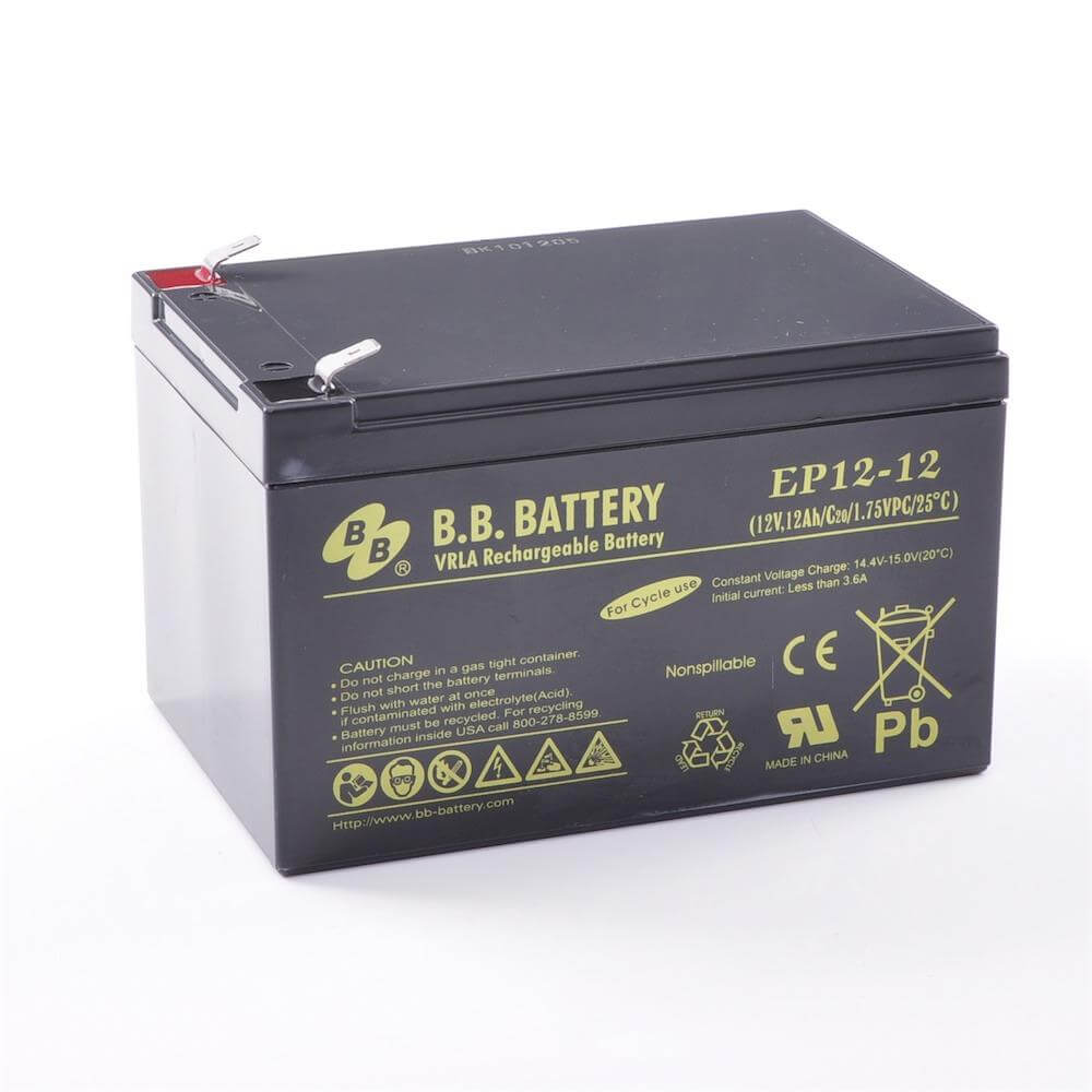 12v 12ah batterie au plomb agm b b battery ep12 12. Black Bedroom Furniture Sets. Home Design Ideas