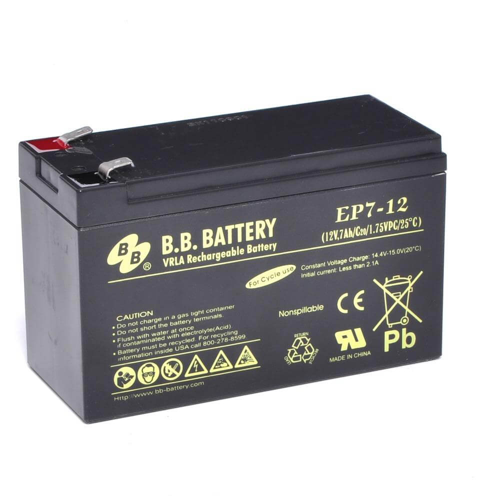 12v 7ah batterie au plomb agm b b battery ep7 12 151x65x93 mm lxlxh borne t2 faston 250. Black Bedroom Furniture Sets. Home Design Ideas