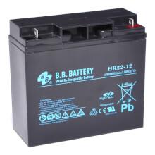 12V 22Ah batterie au plomb (AGM), B.B. Battery HR22-12, 181x76x166 mm (Lxlxh), Borne B1 (Vis écrou M5)