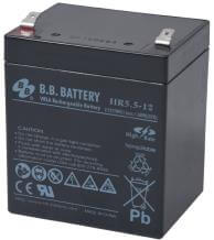 12V 5.5Ah batterie au plomb (AGM), B.B. Battery HR5.5-12, 90x70x102 mm (Lxlxh), Borne T2 Faston 250 (6,3 mm)