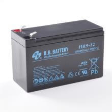 12V 9Ah Batterie au plomb (AGM), B.B. Battery HR9-12, 151x65x94 mm (Lxlxh), Borne T2 Faston 250 (6,3 mm)