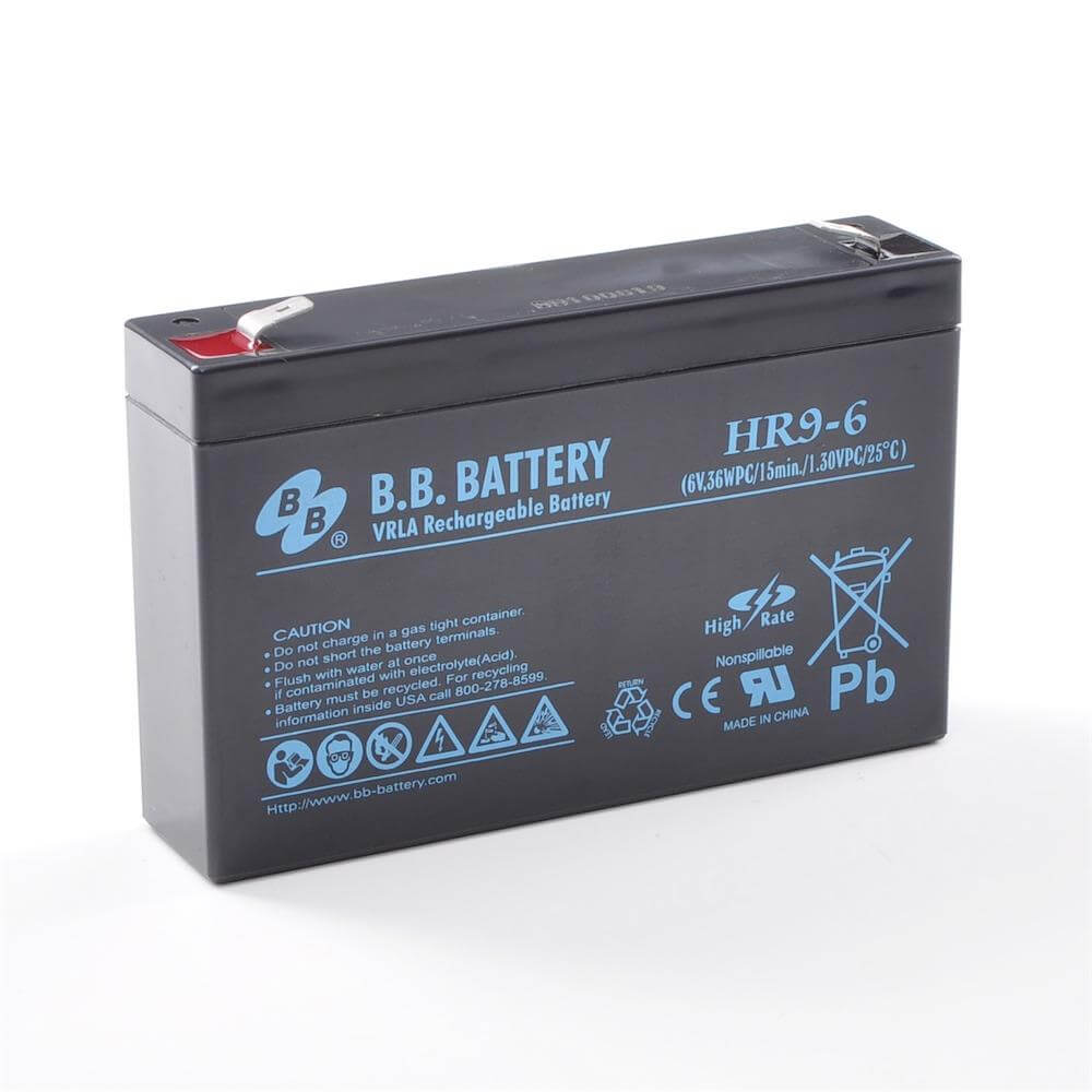 6v 9ah batterie au plomb agm b b battery hr9 6 151x34x94 mm lxlxh borne t2 faston 250 6. Black Bedroom Furniture Sets. Home Design Ideas